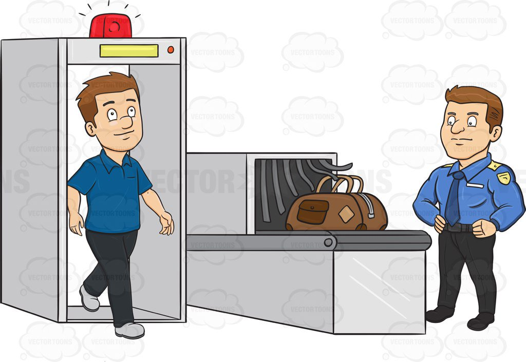 Airport Check In Clipart.