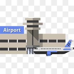 Cartoon Yellow Airport, Cartoon, Aircraf #22770.