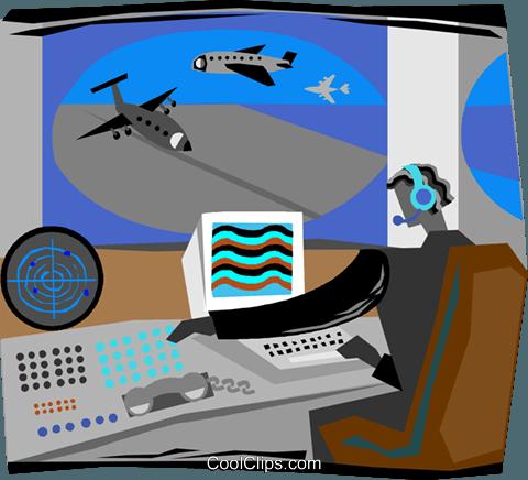 airport radar system Royalty Free Vector Clip Art.