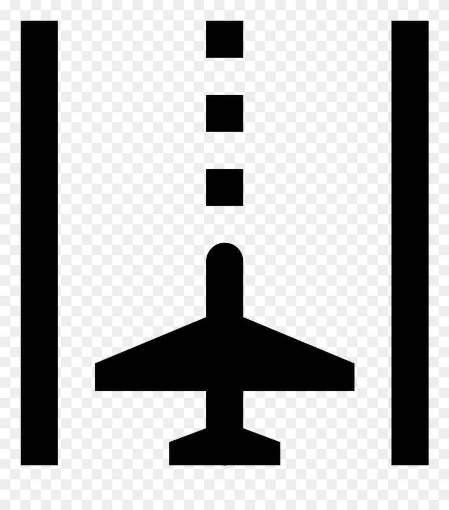 Airport Runway Vector Sketch Icon Isolated On Background.