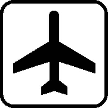 Airport Sign Board Vector Clipart Graphic.