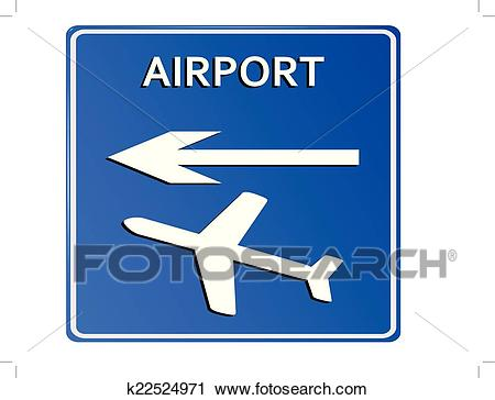 Airport sign, vector. Clipart.