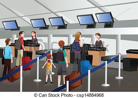 Airport Counter Clipart.