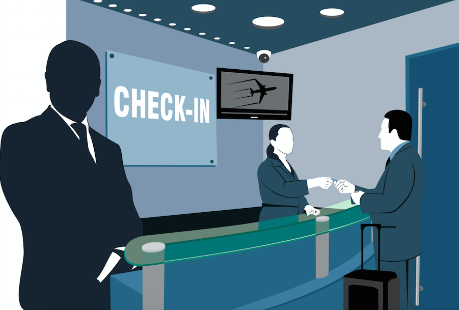 Airport clipart airport counter, Airport airport counter.
