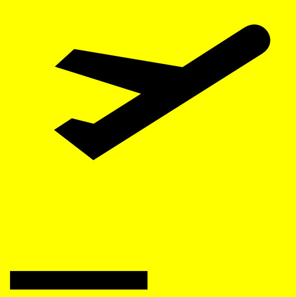 Airport Departure Sign Clip Art at Clker.com.