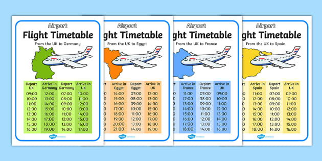 Airport International Flight Timetable.
