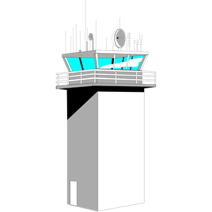Airport Control Tower clipart, cliparts of Airport Control.
