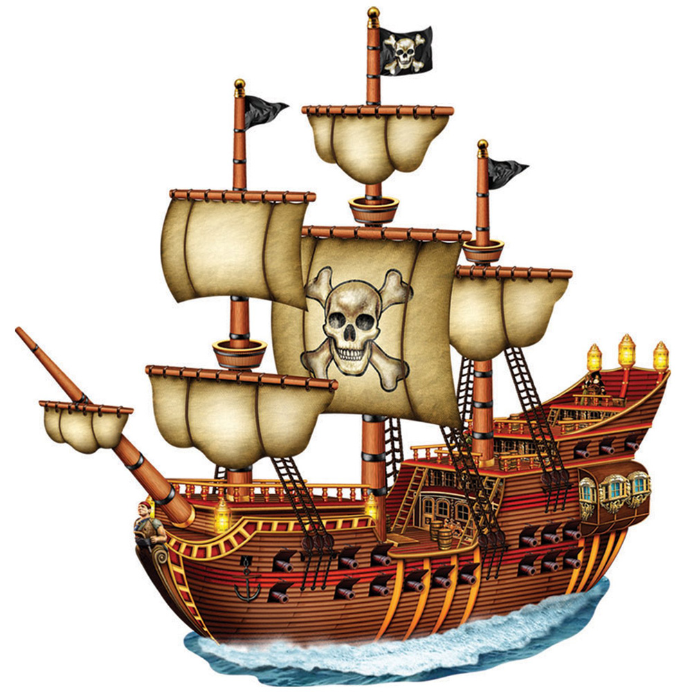 Pirate ship clipart #7