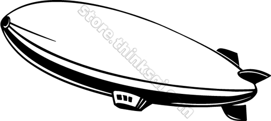 Cartoon blimp clipart.