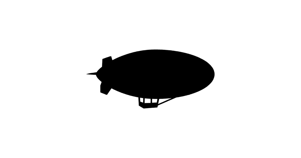 Flying Blimp Silhouette by australianmate.