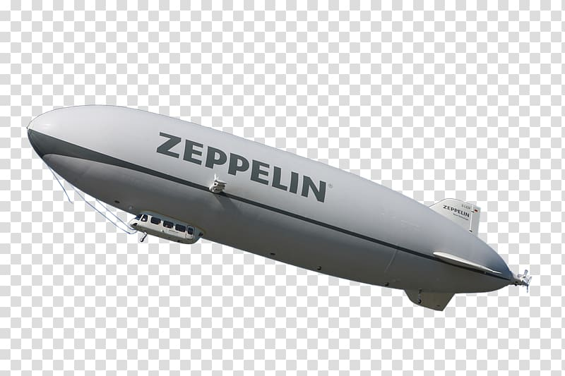 Zeppelin Airship Aircraft Airplane, floating transparent.