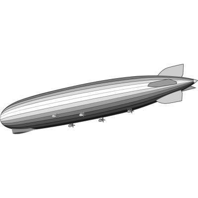 Zeppelin Clipart transparent PNG.