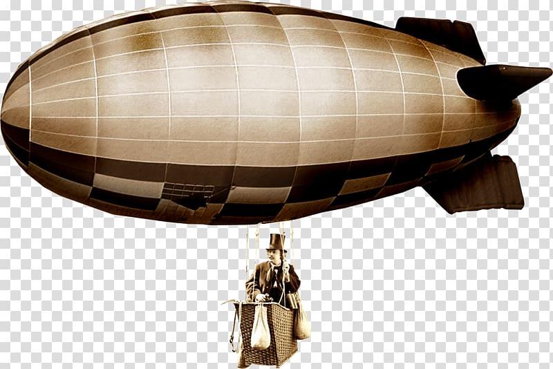 Rigid airship Steampunk Zeppelin , steam punk transparent.