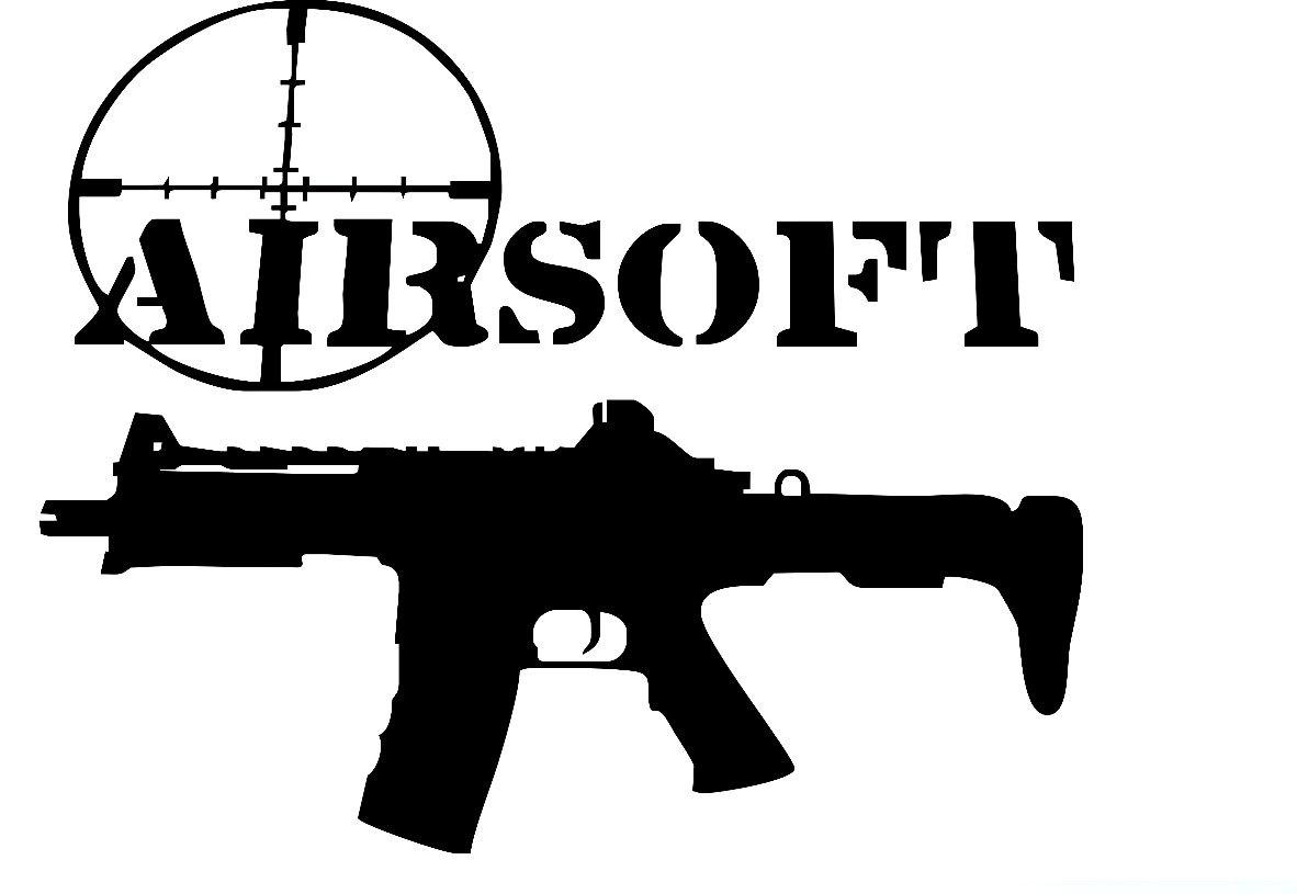 Airsoft gun clipart.