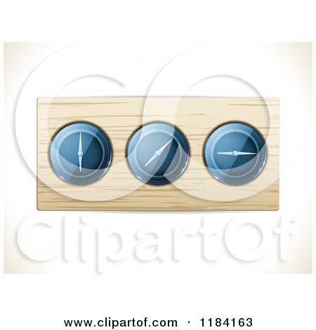 Clipart Of A Casares Air Speed Indicator Gauge Royalty Free Vector.
