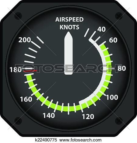 Clipart of Airspeed indicator k22490775.