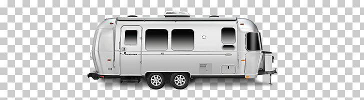 Airstream Side View, gray travel trailer illustration PNG.