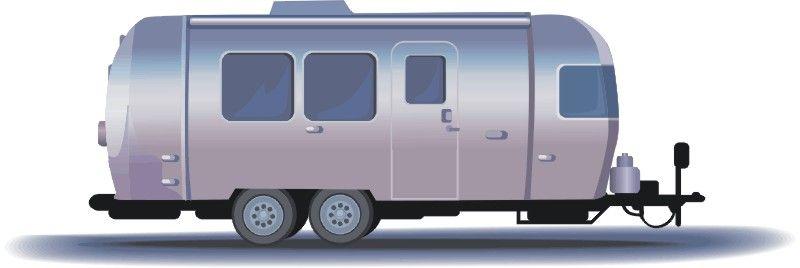 Airstream trailer clip art.