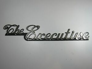 Details about Vintage The Executive Travel Trailer Emblem Badge Ornament  Camper RV Airstream.