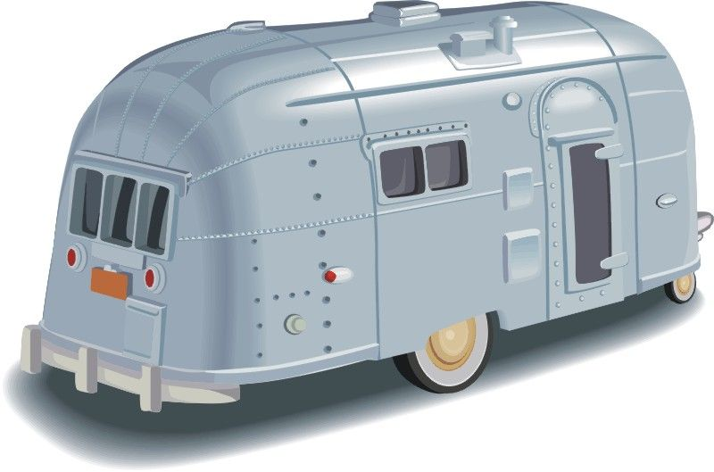Airstream Vintage Travel Trailer Link Library Clipart.