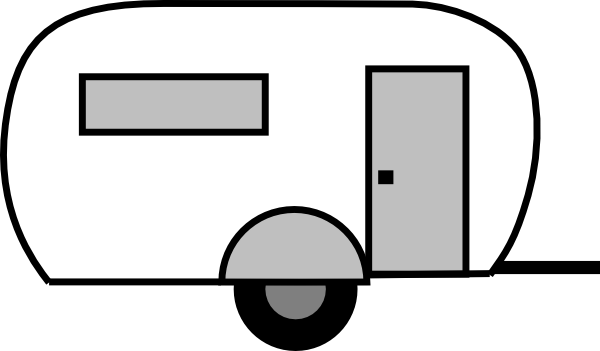 Airstream trailer clipart.