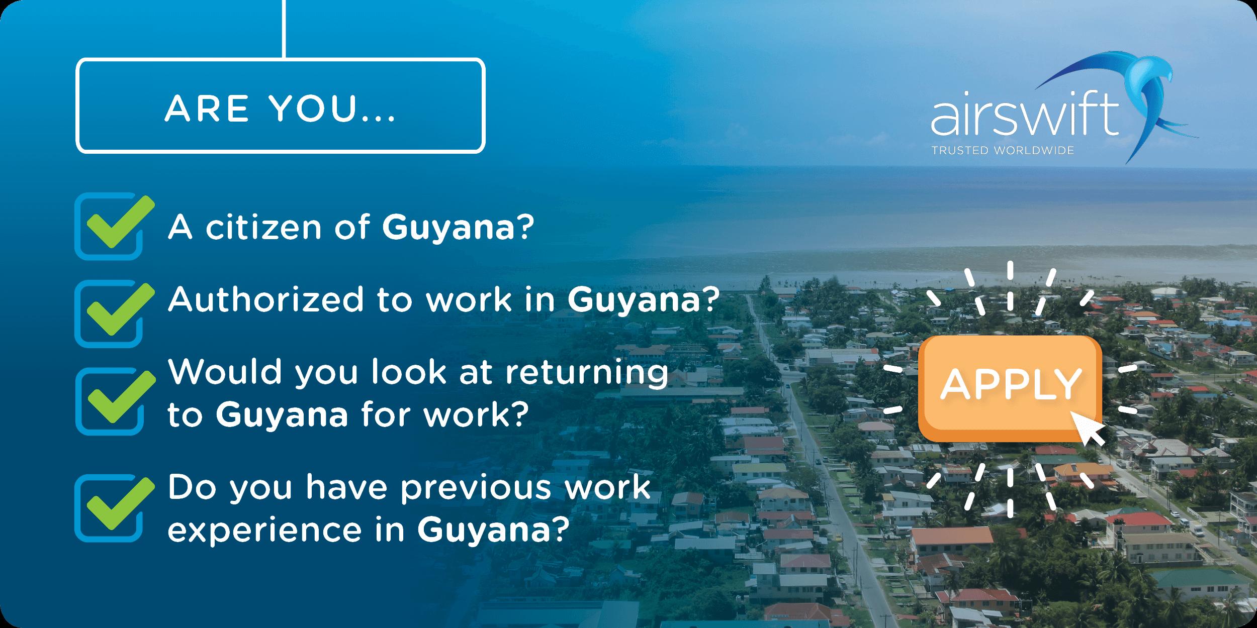Jobs in Guyana.