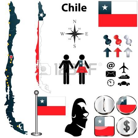 439 Chile Contour Stock Vector Illustration And Royalty Free Chile.