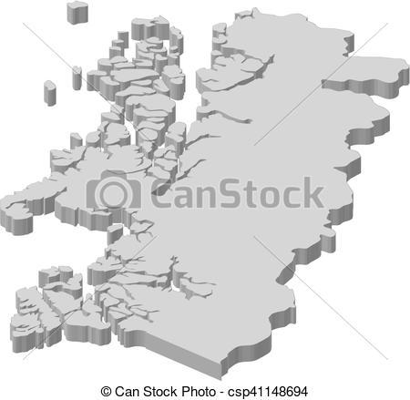 EPS vectores de mapa, 3d.