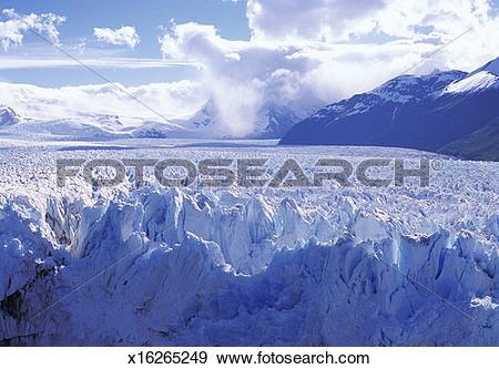 Stock Photograph of San Rafael Glacier, Aisen Region, Patagonia.