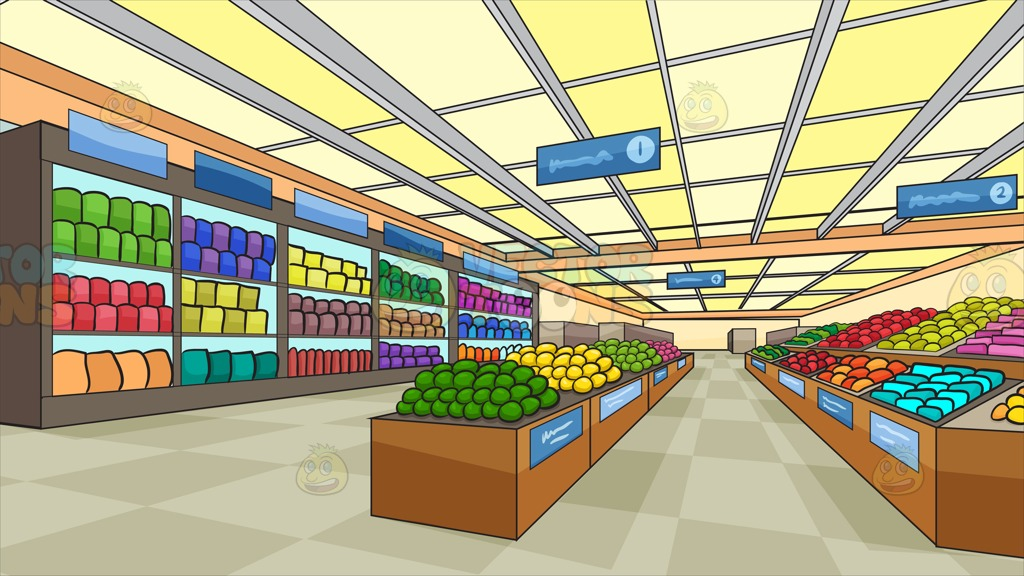 Grocery aisle clipart.