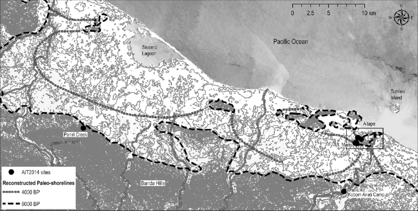 The Aitape area of northern Papua New Guinea, with 2014 fieldwork.