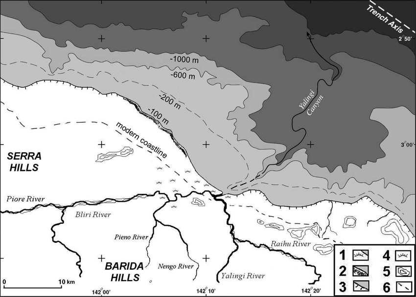 2. Hypothetical reconstruction of the Aitape region of the West.