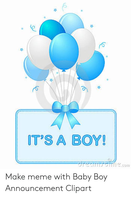 IT\'S a BOY! Rea Ecom Make Meme With Baby Boy Announcement.
