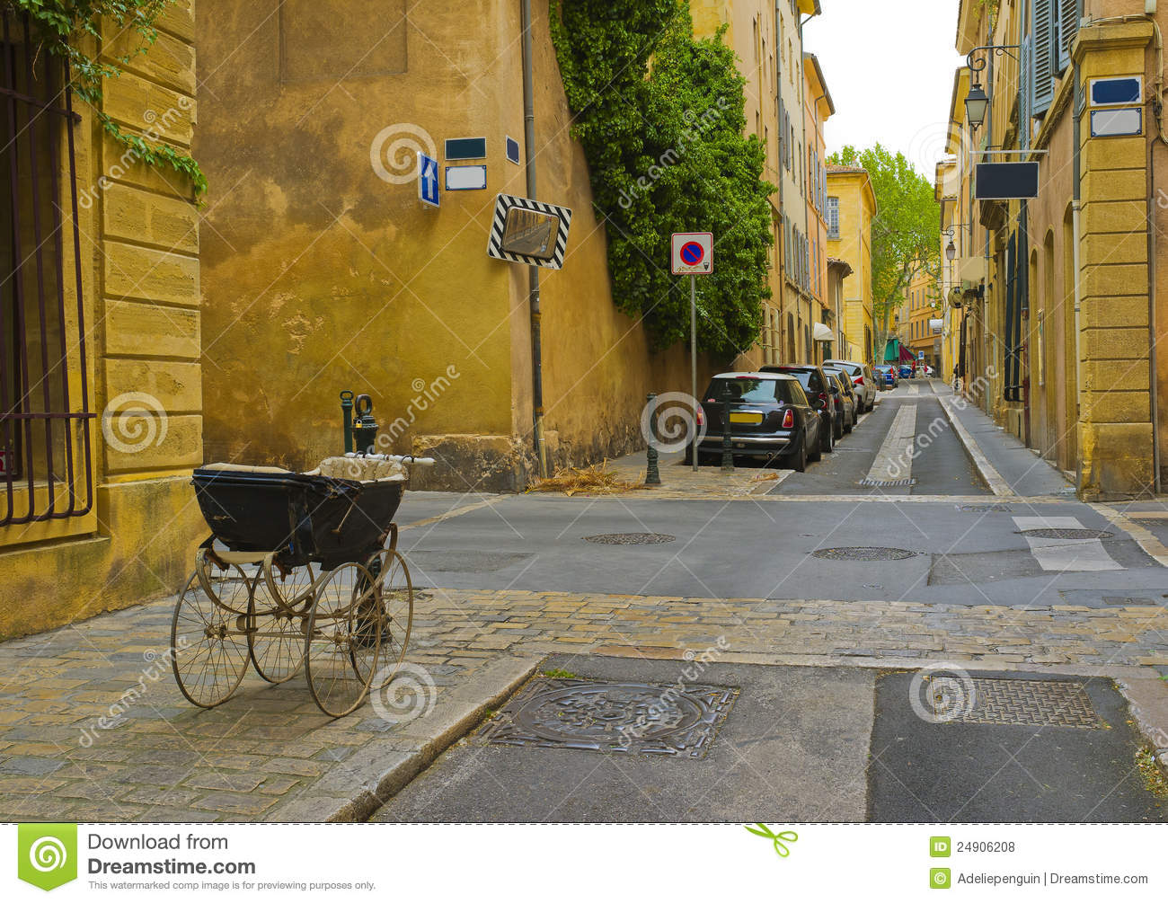 Street With Baby Carriage, Aix.