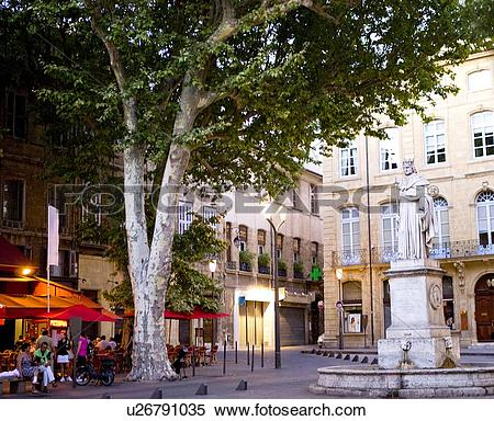 Stock Image of Cours Mirabeau in Aix.