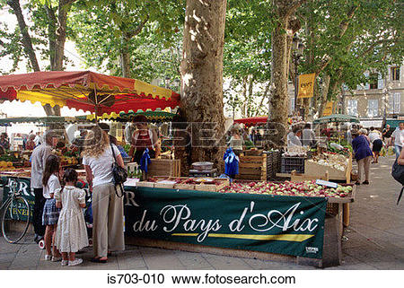 Stock Photography of Market stall, Place Richelme, Aix.