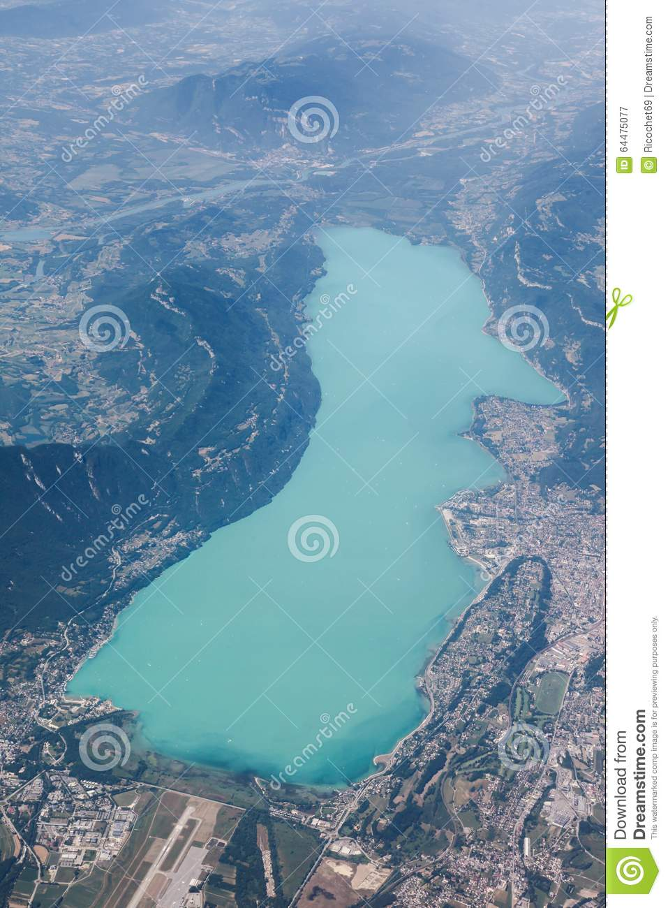 View Of Bourget Lake In Aix Les Bains, France Stock Photo.