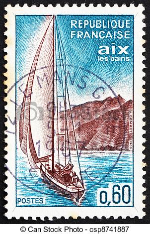 Picture of Postage stamp France 1965 Sailboat, Aix.