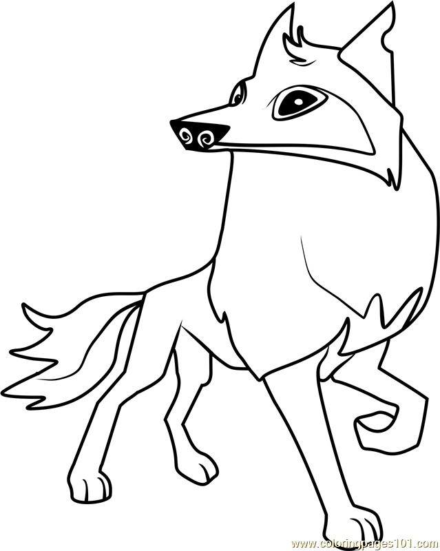 Animal Jam Coloring Pages Arctic Wolf.