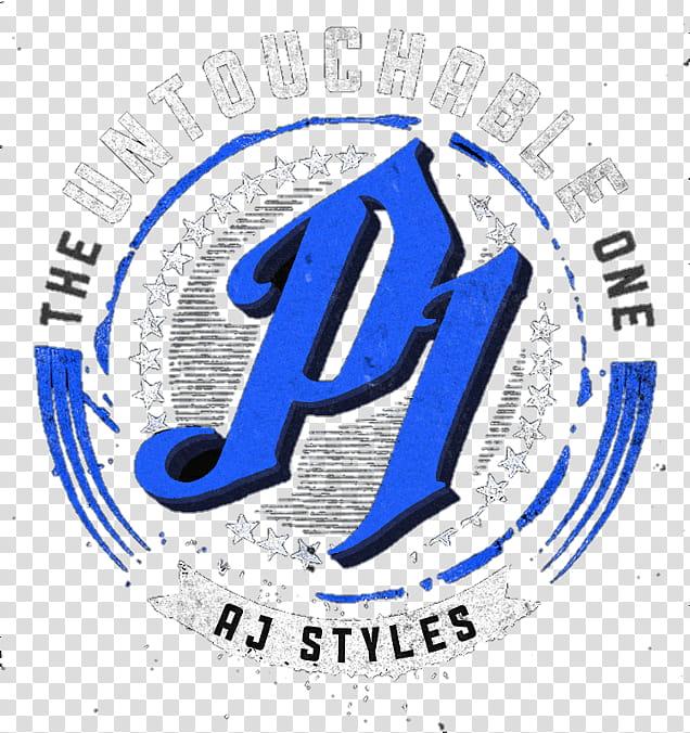 AJ Styles Untouchable One Blue Logo transparent background.
