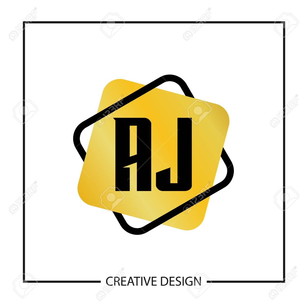 Initial Letter AJ Logo Template Design Vector Illustration.