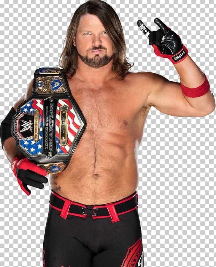 A.J. Styles WWE Championship WWE United States Championship.