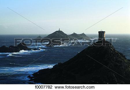 Stock Photo of France, Corsica, Ajaccio, the Bloody Islands.