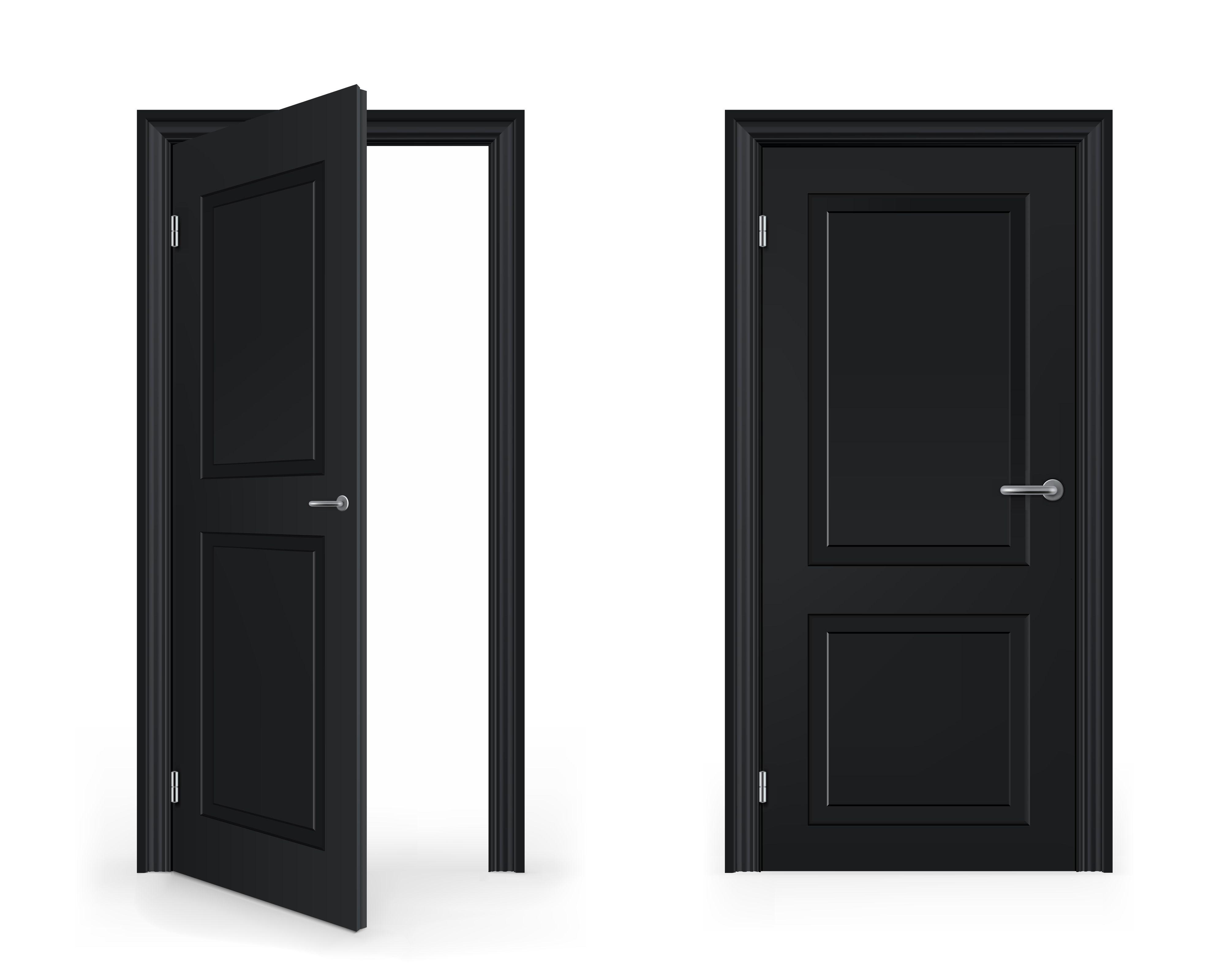 Exterior Open Door Clipart With Open Door Closed Door.
