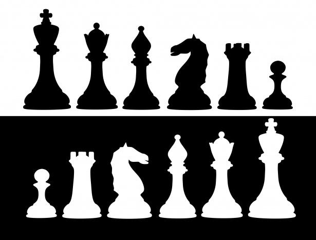 Juego de ajedrez Clipart Stock de Foto gratis.