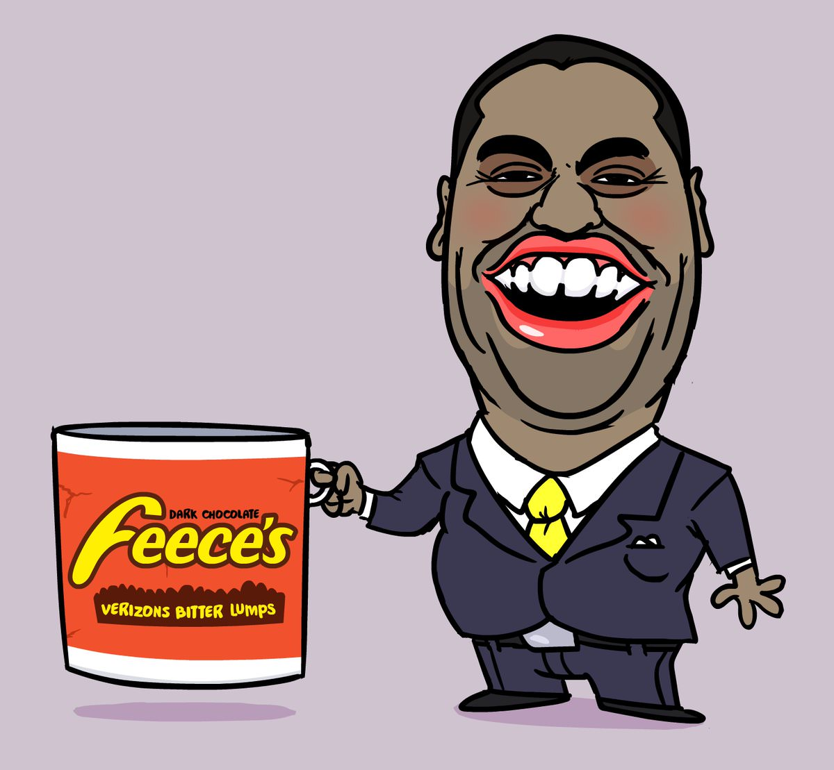 Psychicpebbles\' very accurate portrait of Ajit Pai..