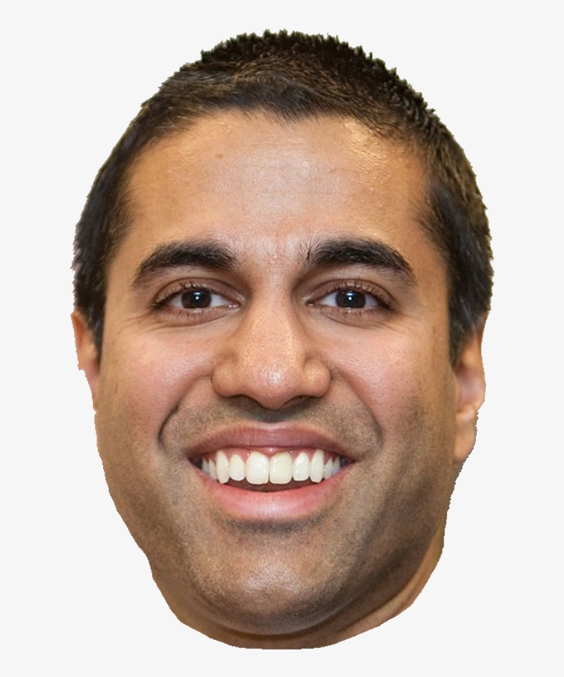 Here's A Cutout Of Ajit Pai's Face.