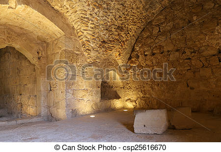 Picture of The ayyubid castle of Ajloun in northern Jordan, built.