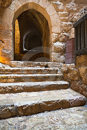 Ajloun Castle Interior Stock Photography.