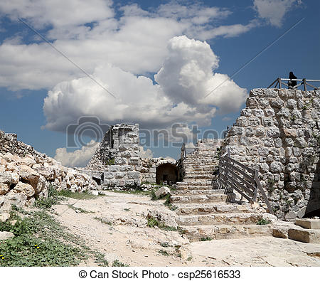 Stock Photos of The ayyubid castle of Ajloun in northern Jordan.